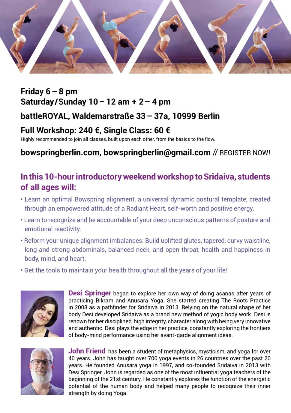 Sridaiva Berlin 2015 Flyer II